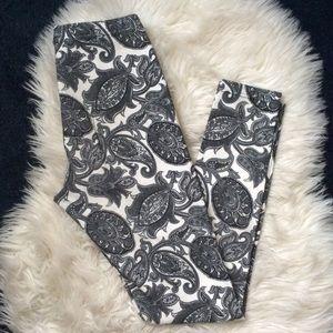 TopShop high waisted paisley print leggings sz 4